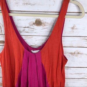 ff218d9de2 Diane Von Furstenberg Swim - DVF pink orange silk bamboo sleeveless coverup